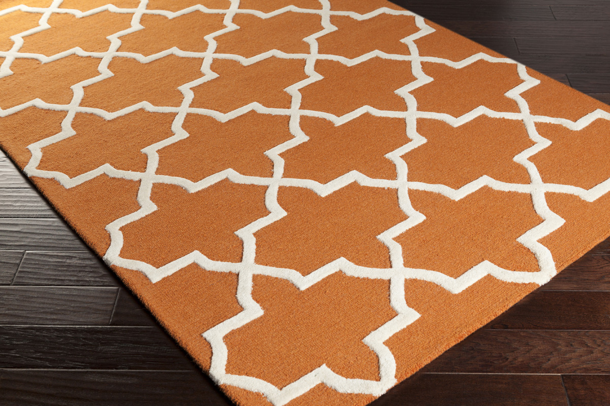 Artistic Weavers Pollack Keely AWDN2025 Orange/White Area Rug