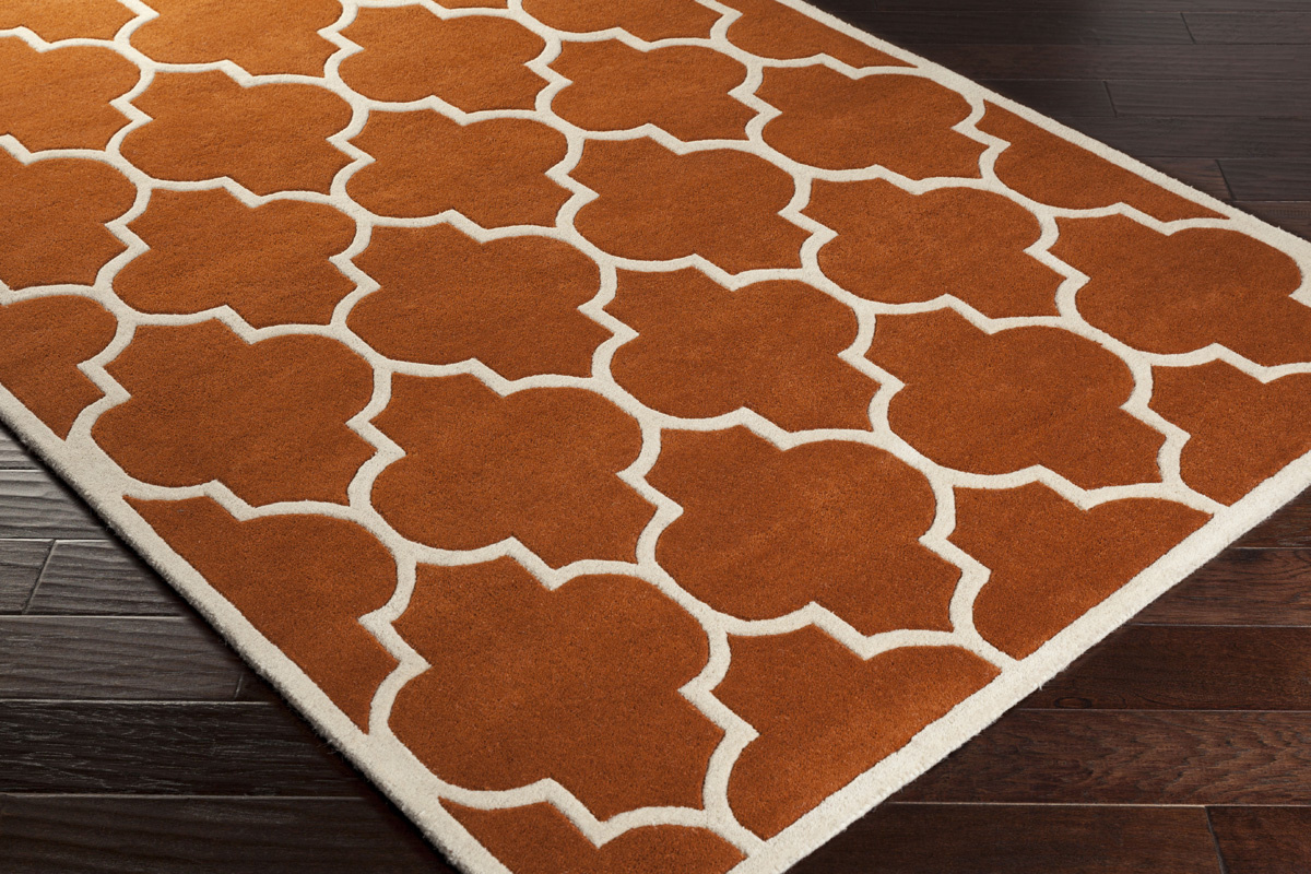 Orange Trellis Rug Orange And White Area Rug