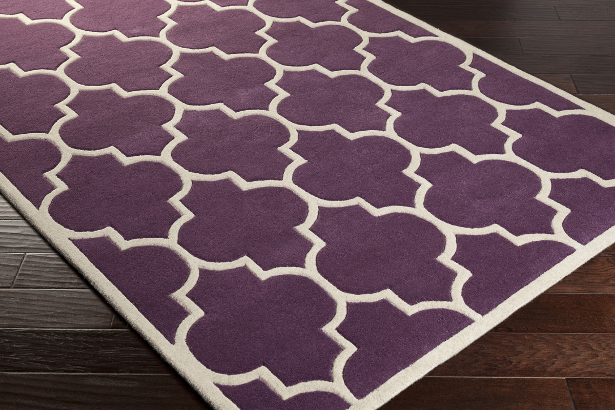 Artistic Weavers Transit Piper AWHE2016 Purple White Area Rug