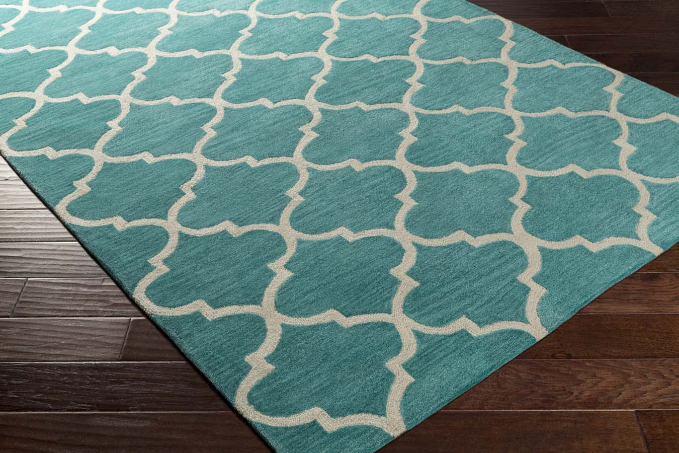 Artistic Weavers Holden AWHL-1009 Finley Teal/Ivory Rug