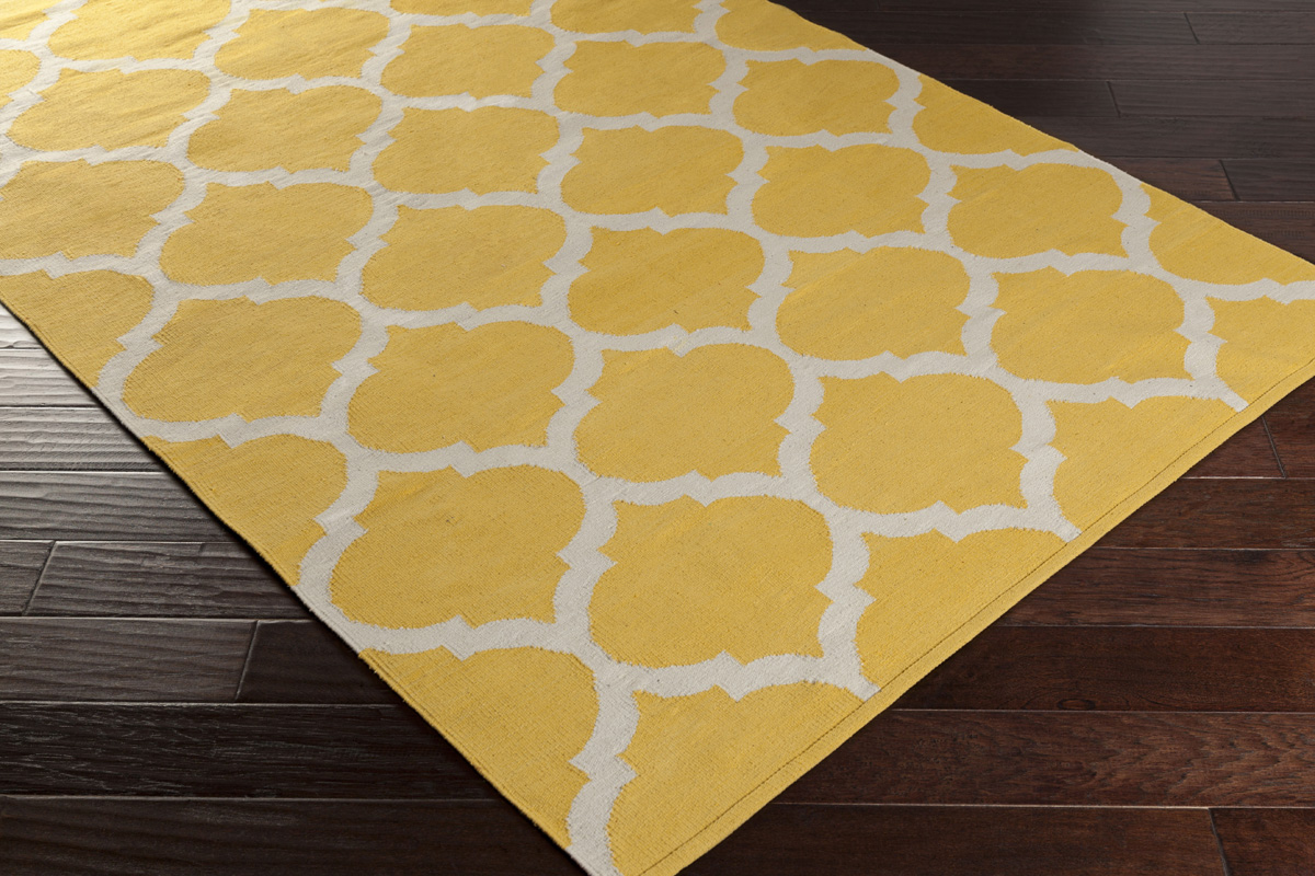 Artistic Weavers Vogue Everly Awlt3001 Yellow White Area Rug