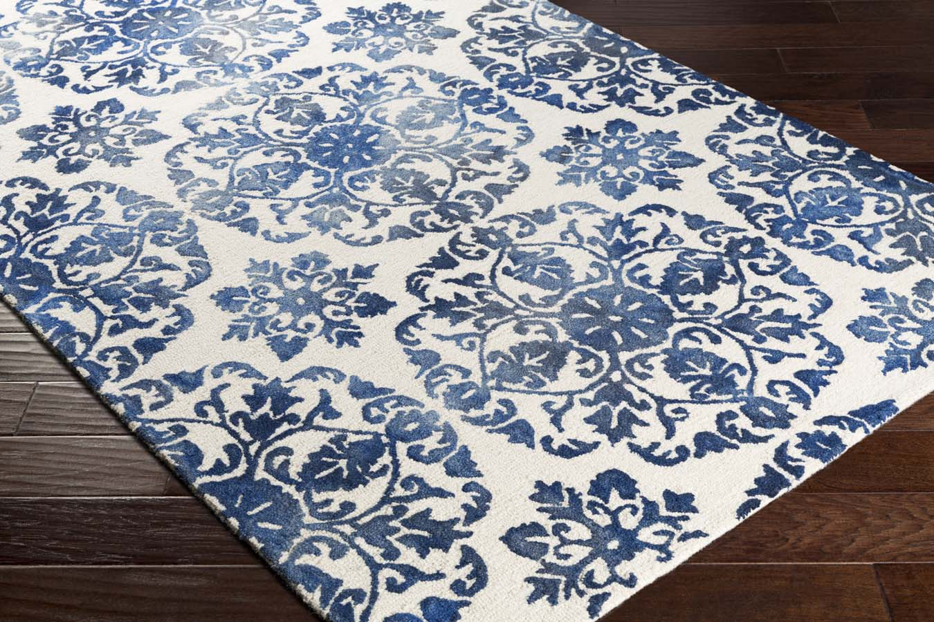 Royal blue and white rug rugs ideas for Blue and white carpet