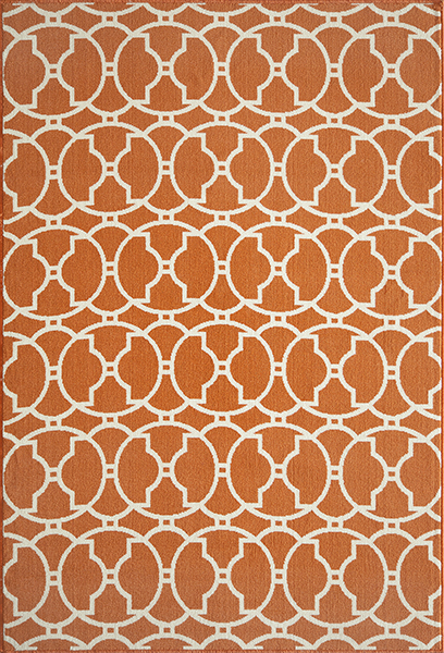 Baja BAJ-11 Orange Rug by Momeni