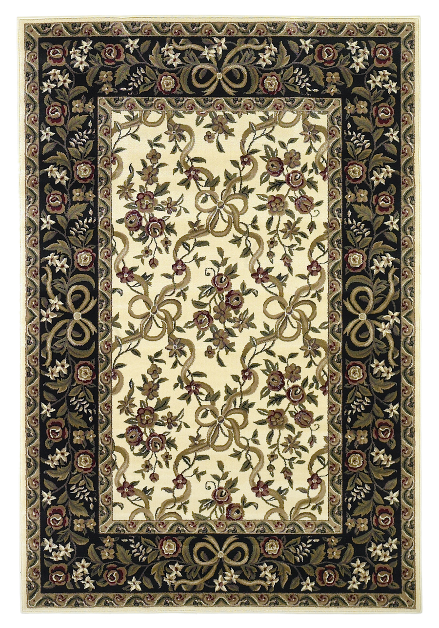 Cambridge 7310 Ivory/Black Rug by Kas