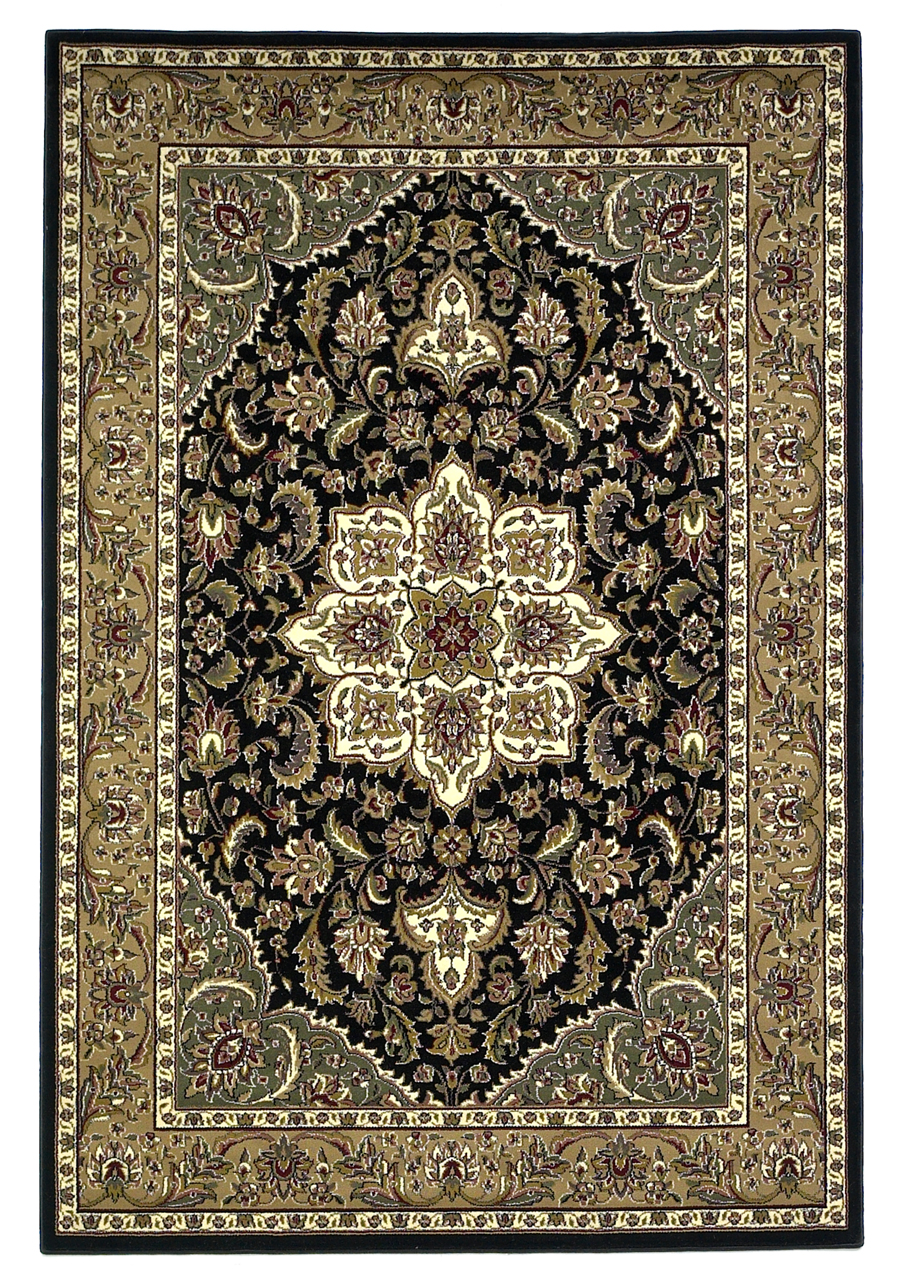 Cambridge 7327 Black/Beige Rug by Kas