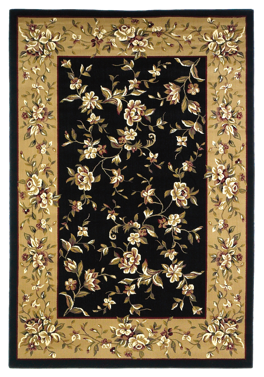 Cambridge 7336 Black/Beige Rug by Kas