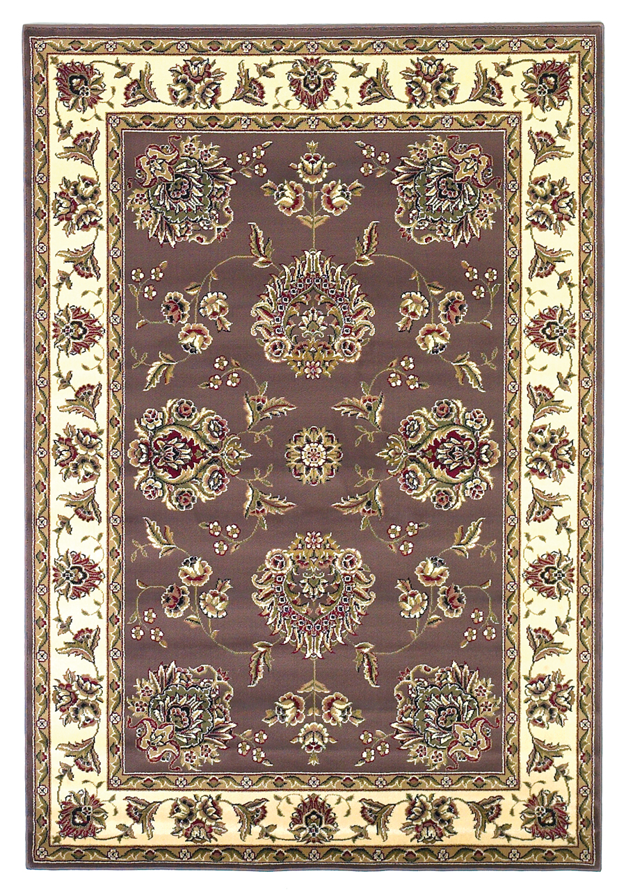 Cambridge 7341 Plum/Ivory Floral Mahal Rug by Kas