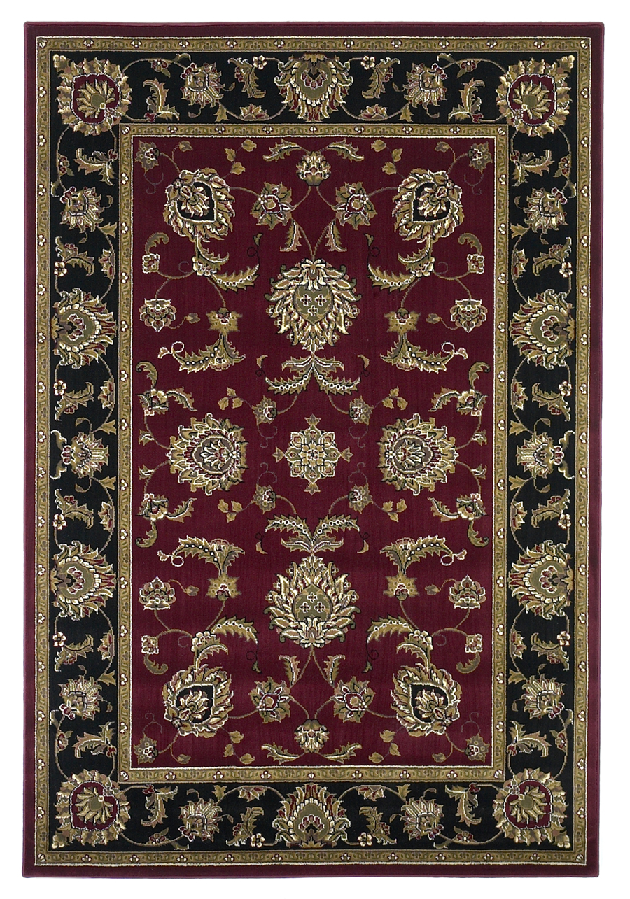 Cambridge 7342 Red/Black Bijar Rug by Kas