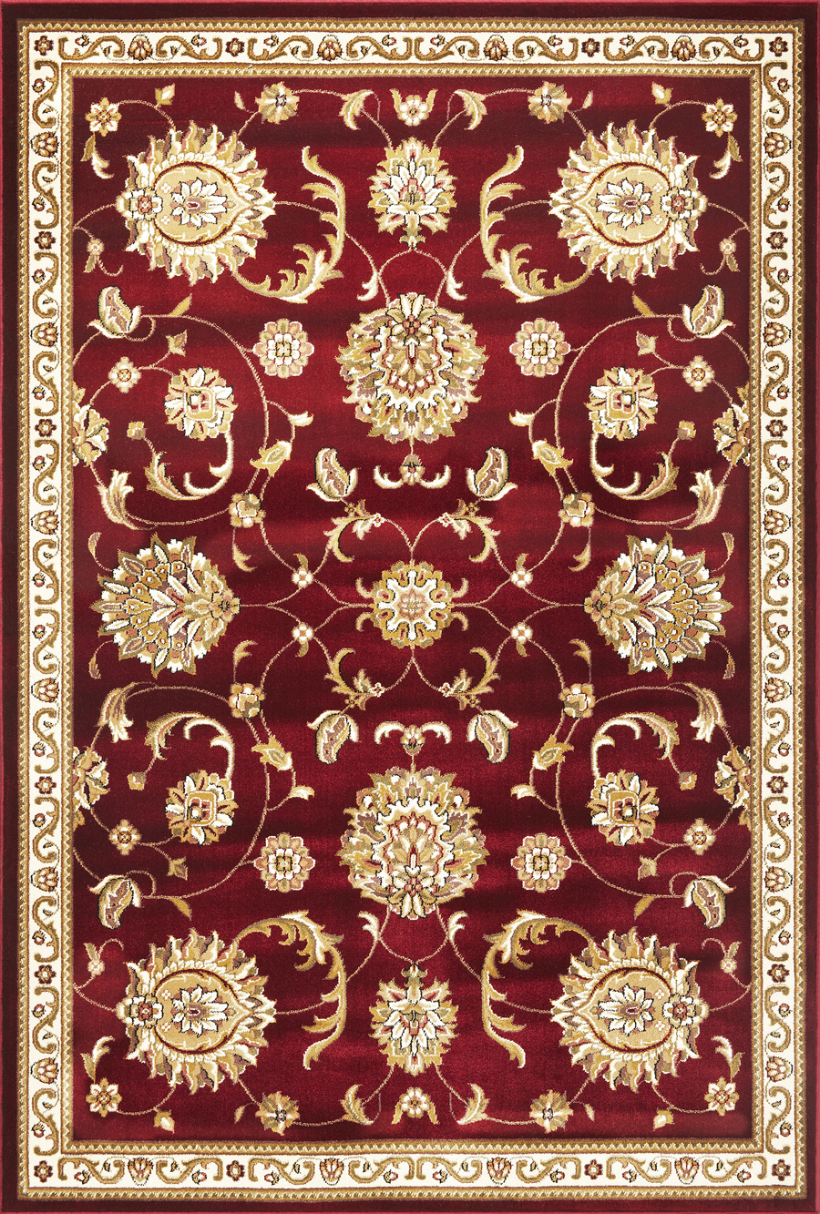 Cambridge 7355 Red All Over Mahal Rug by Kas