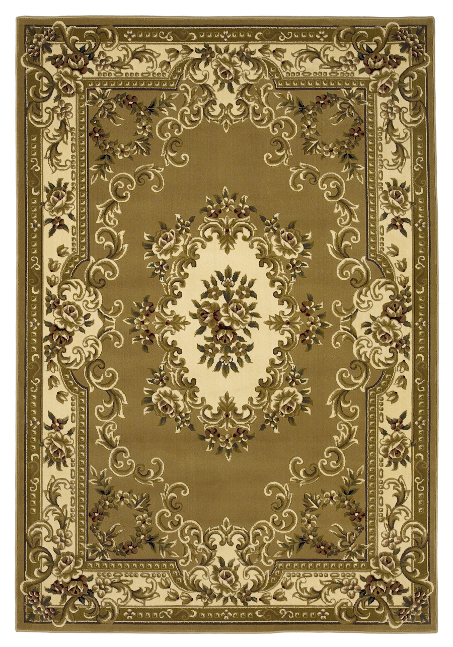 Corinthian 5309 Beige/Ivory Aubusson Rug by Kas