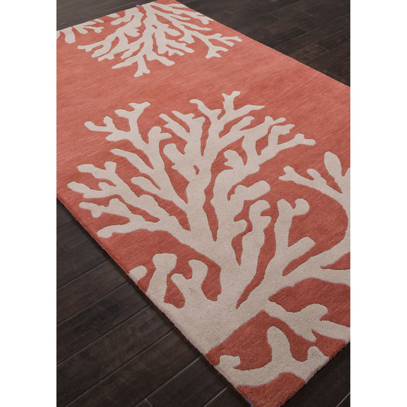 Jaipur COS02 Coastal Seaside Bough Apricot brandy Rug