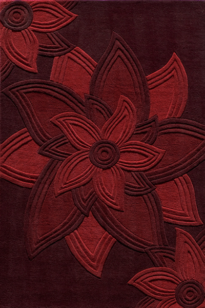 Delhi DL-40 Red Rug by Momeni