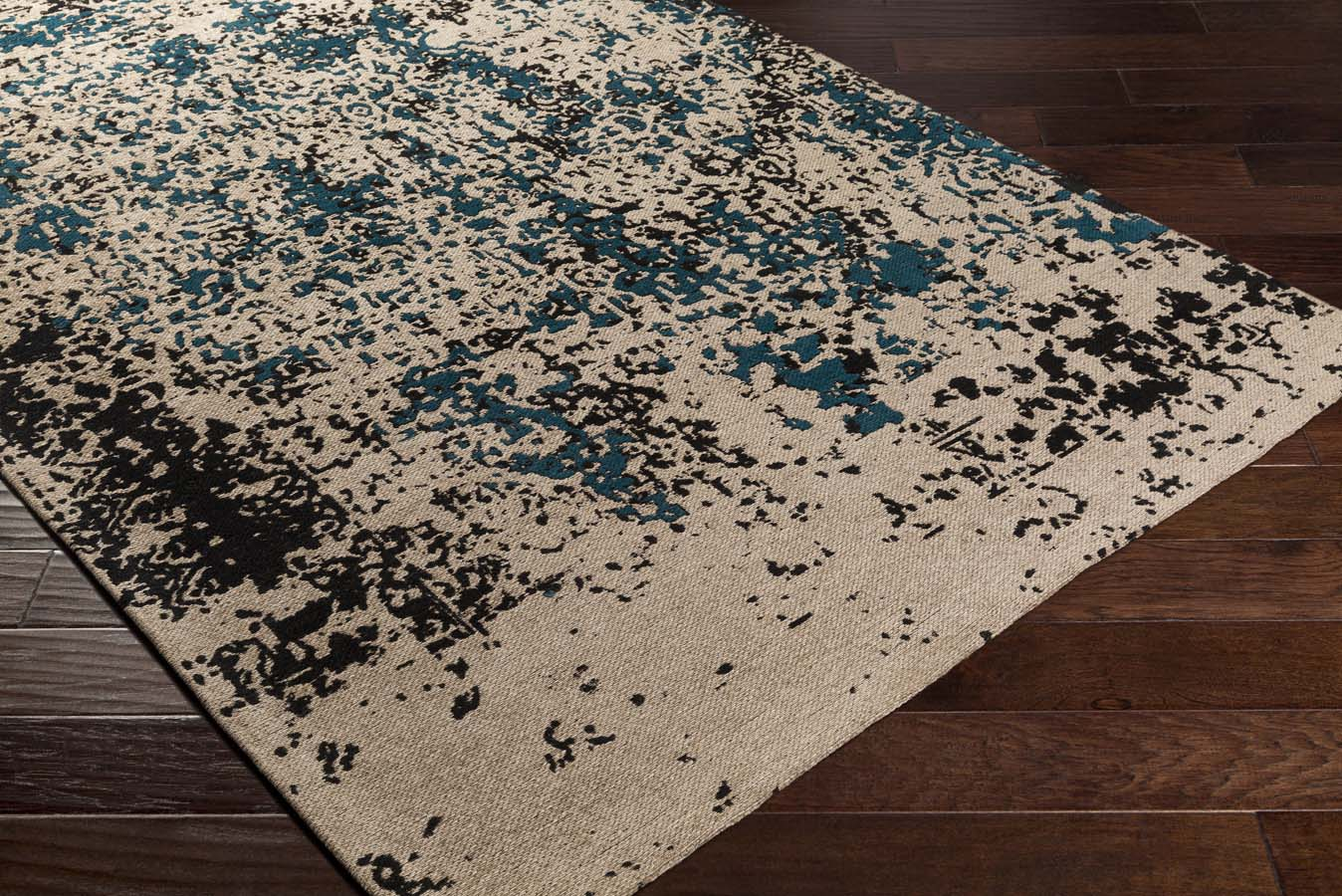 Artistic Weavers Egypt EGT-3076 Lara Dark Teal/Grey Rug