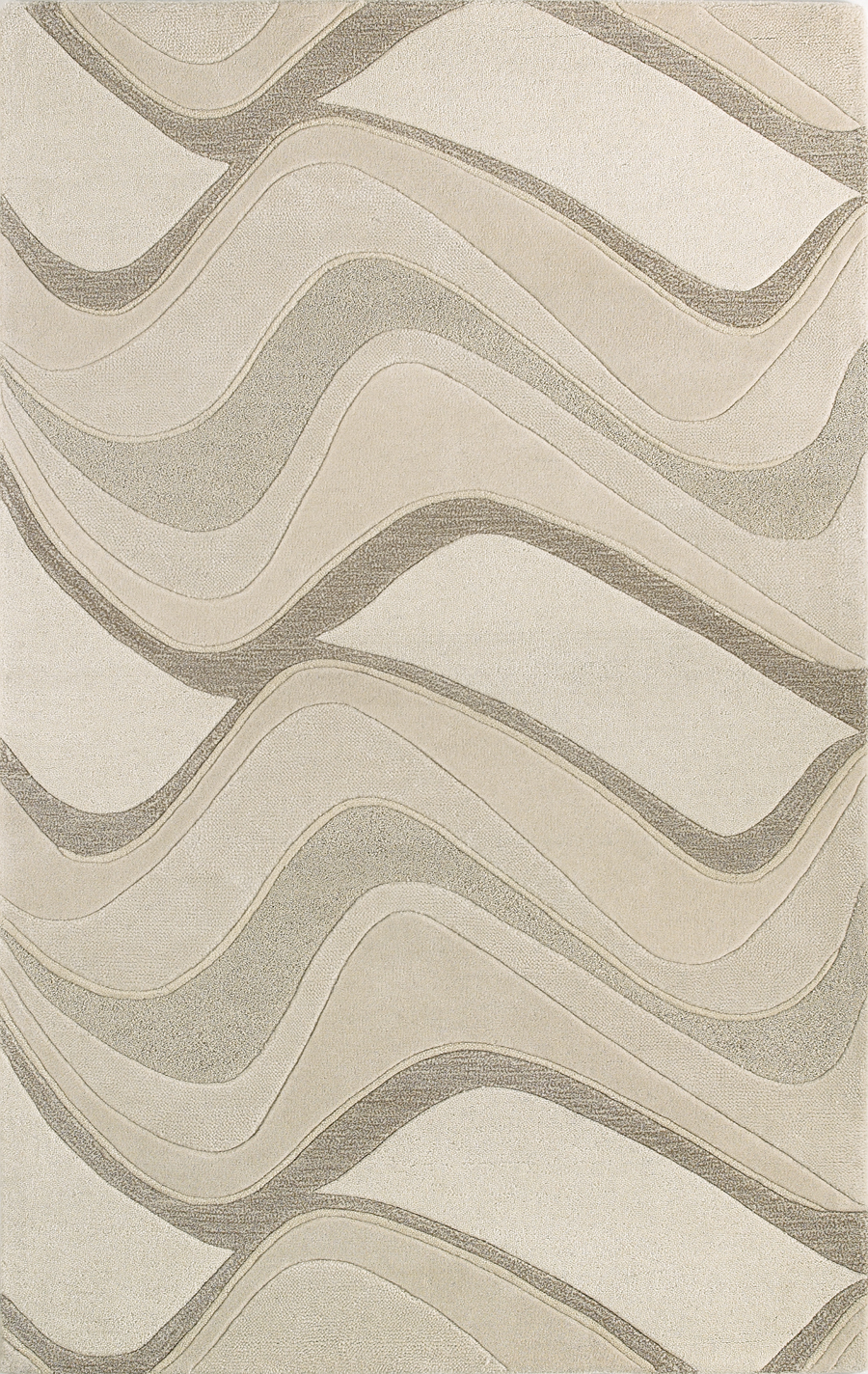 Eternity Waves 1085 Ivory Rug by Kas