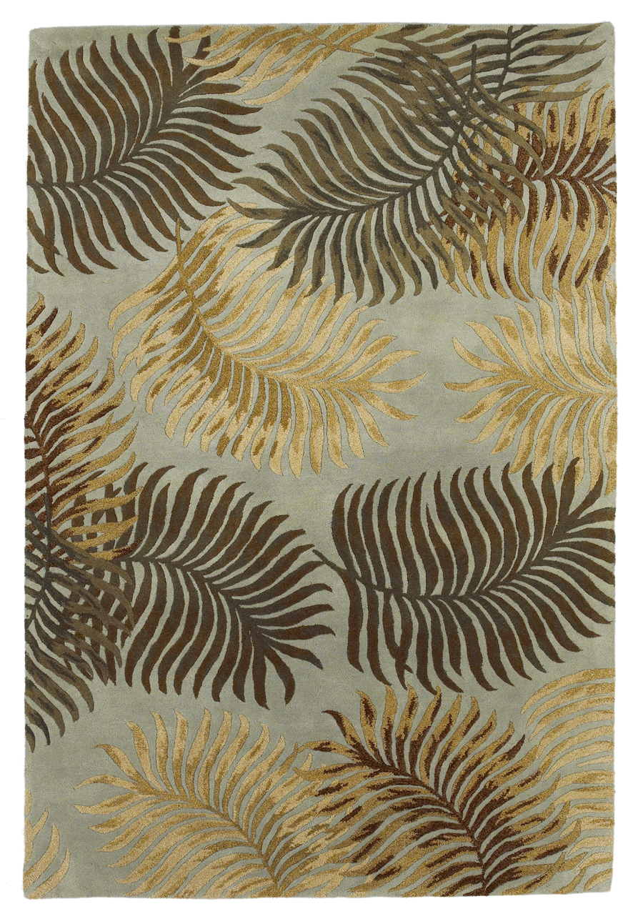 Havana 2612 Aqua Fern View Rug by Kas