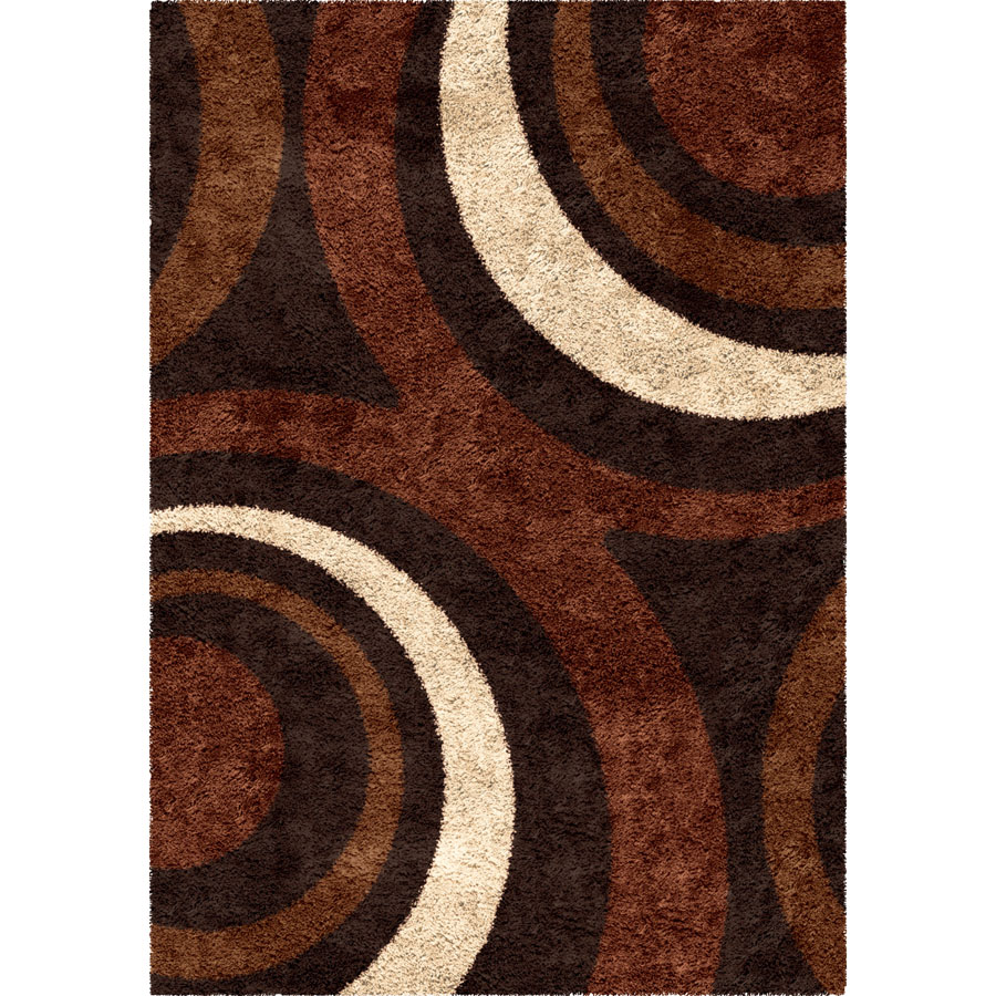 Orian Impressions Shag 3700 Ring of Fire Mocha Area Rug