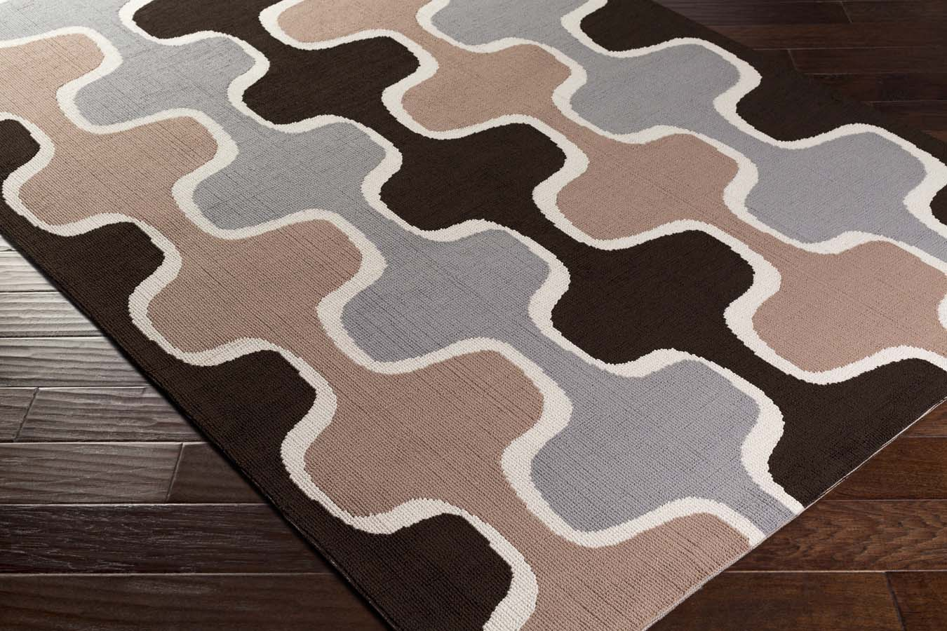 Artistic Weavers Joan JOAN-6068 Clermont Black/Gray/Taupe Rug