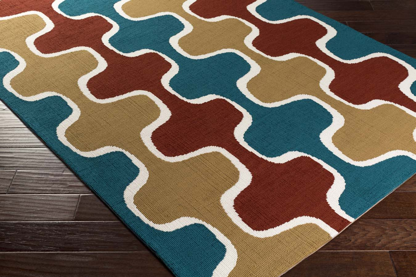Artistic Weavers Joan JOAN-6069 Clermont Teal/Rust/Gold Rug