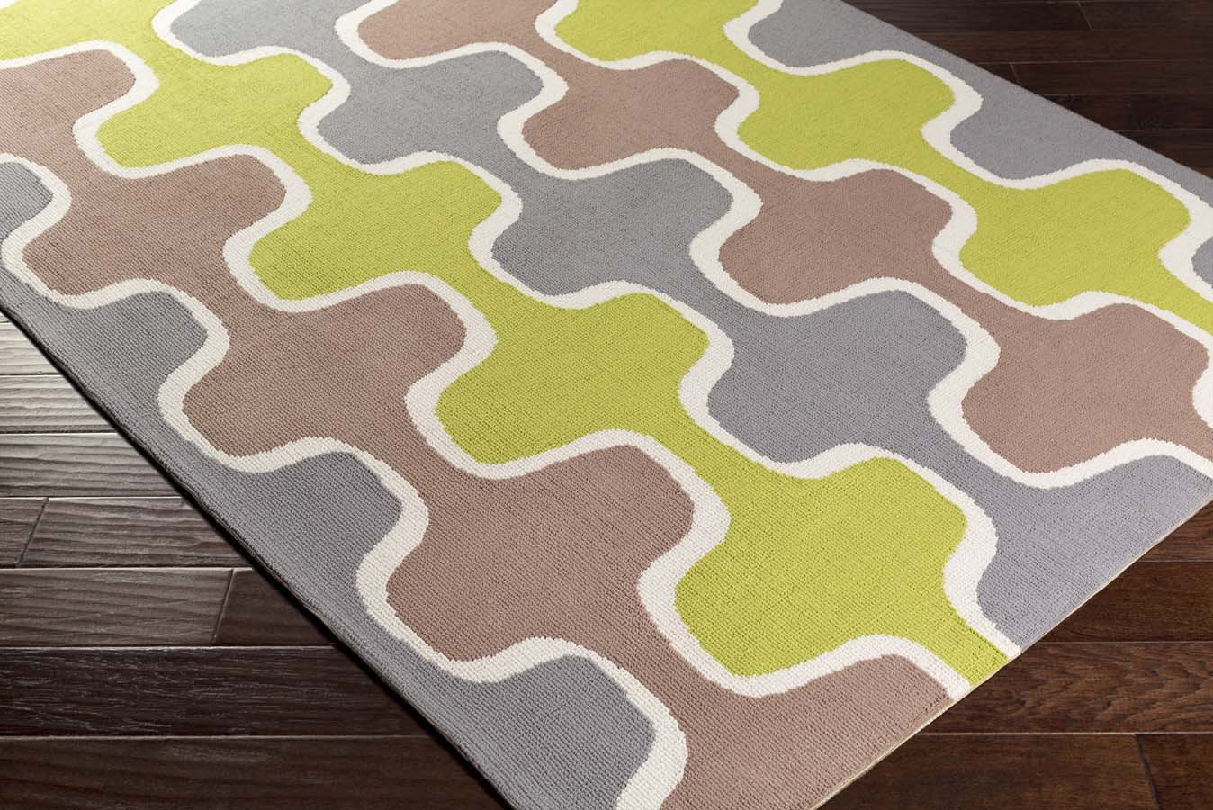 Artistic Weavers Joan JOAN-6070 Clermont Lime/Gray/Taupe Rug