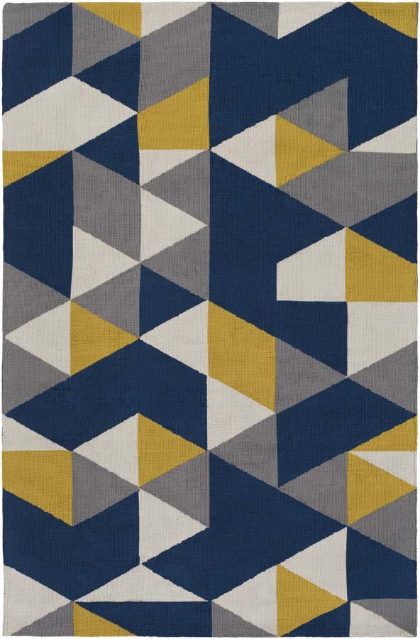 Artistic Weavers Joan JOAN-6087 Fulton Navy Blue/Yellow ...