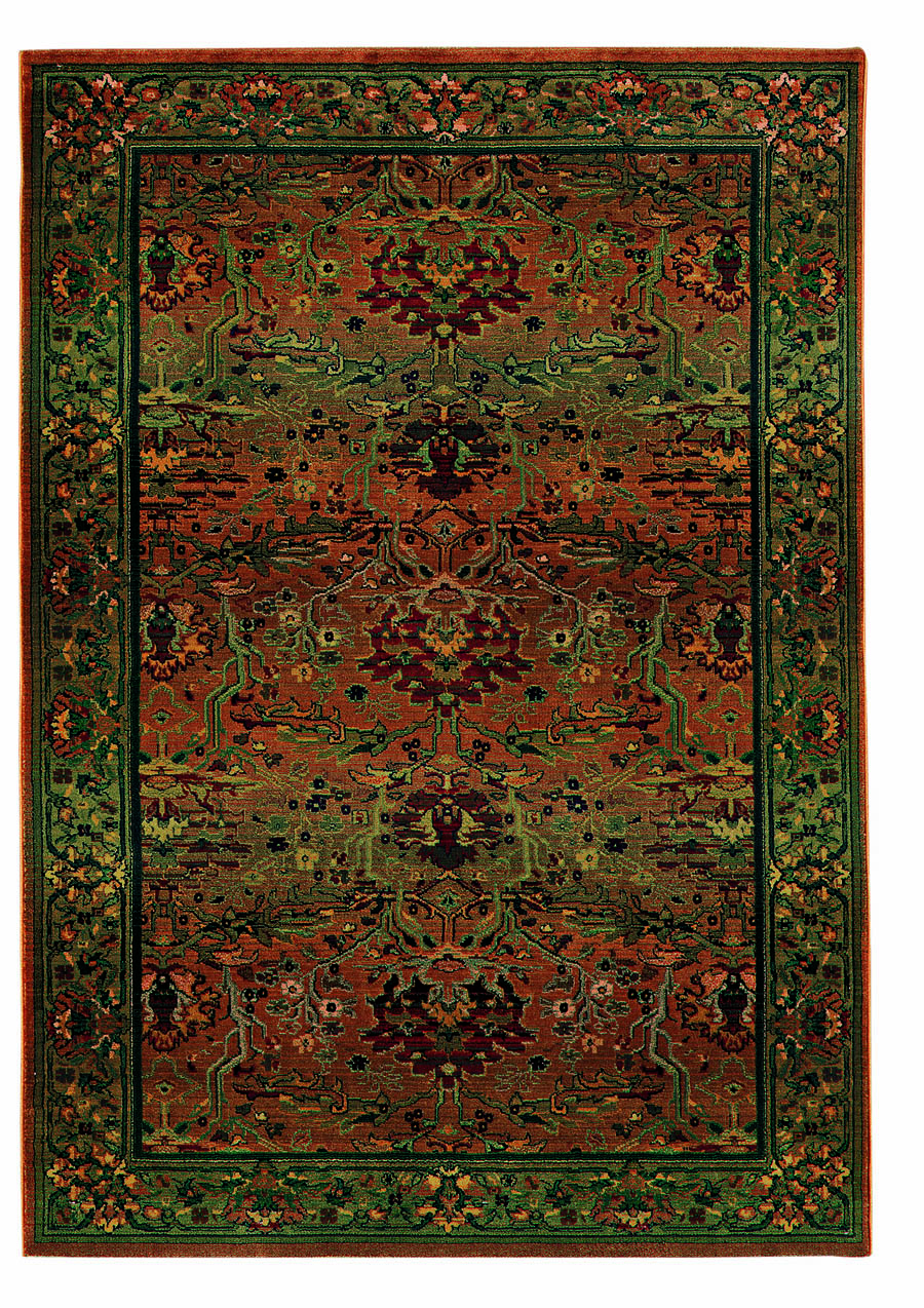 Oriental Weavers Sphinx Kharma Peace 465J Medium Green Rug