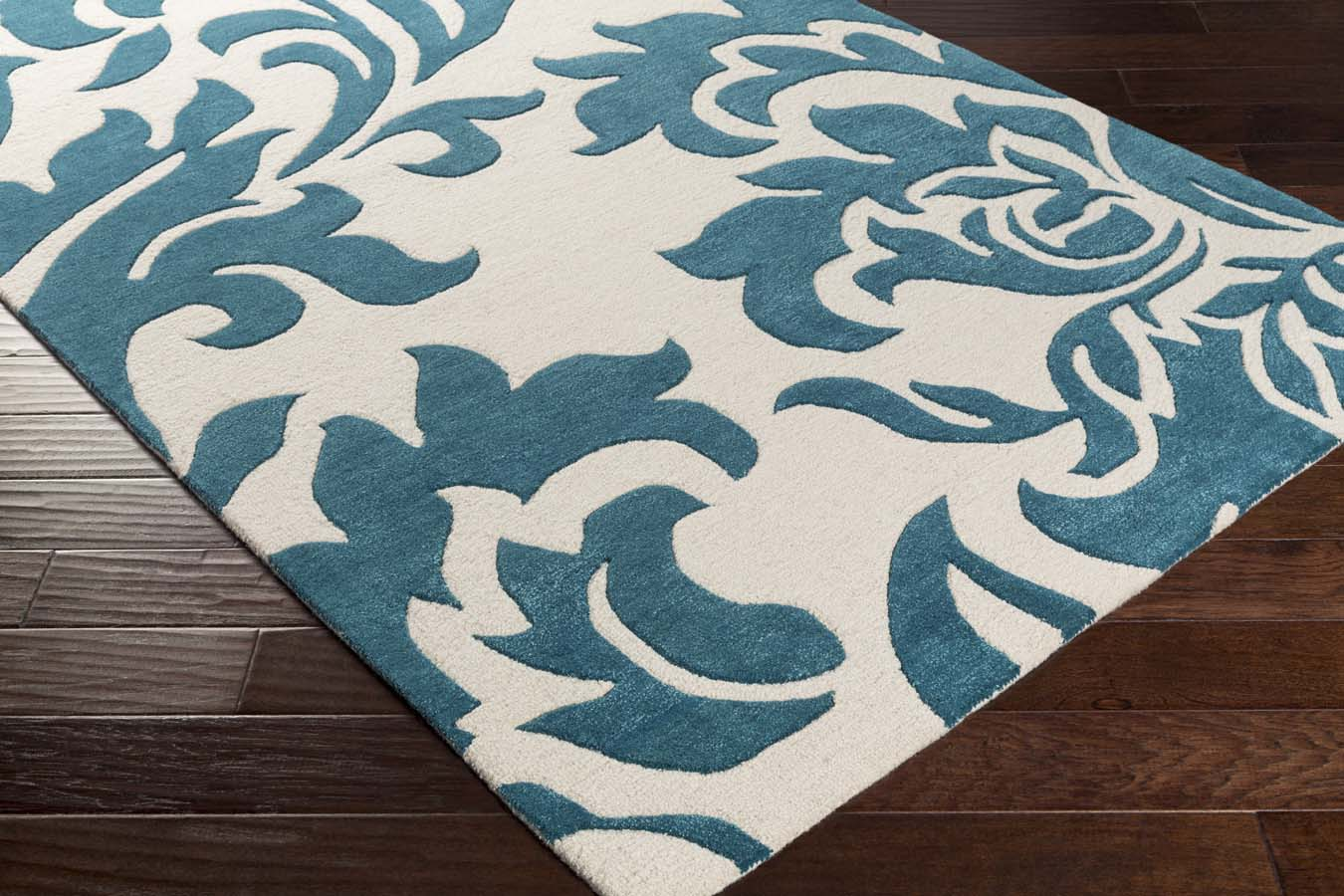 artistic weavers lounge lge-2233 heidi teal/off-white rug
