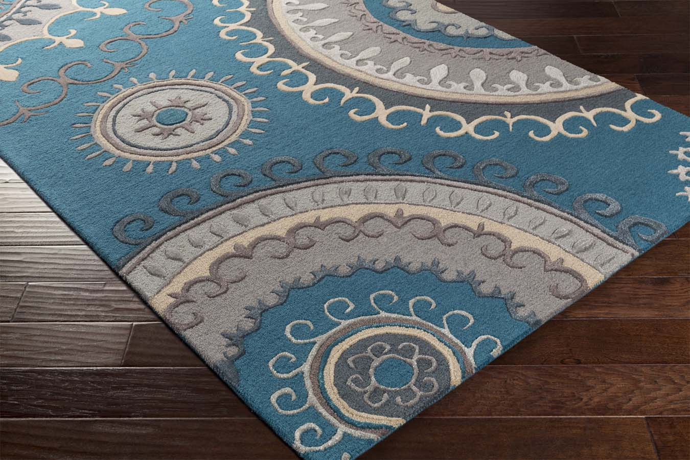 Artistic Weavers Lounge Lge 2239 Alanna Teal Grey Rug