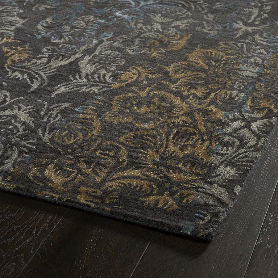 Orian Rugs Patterson Charcoal: Kaleen Mercery MER04-38 Charcoal Rug