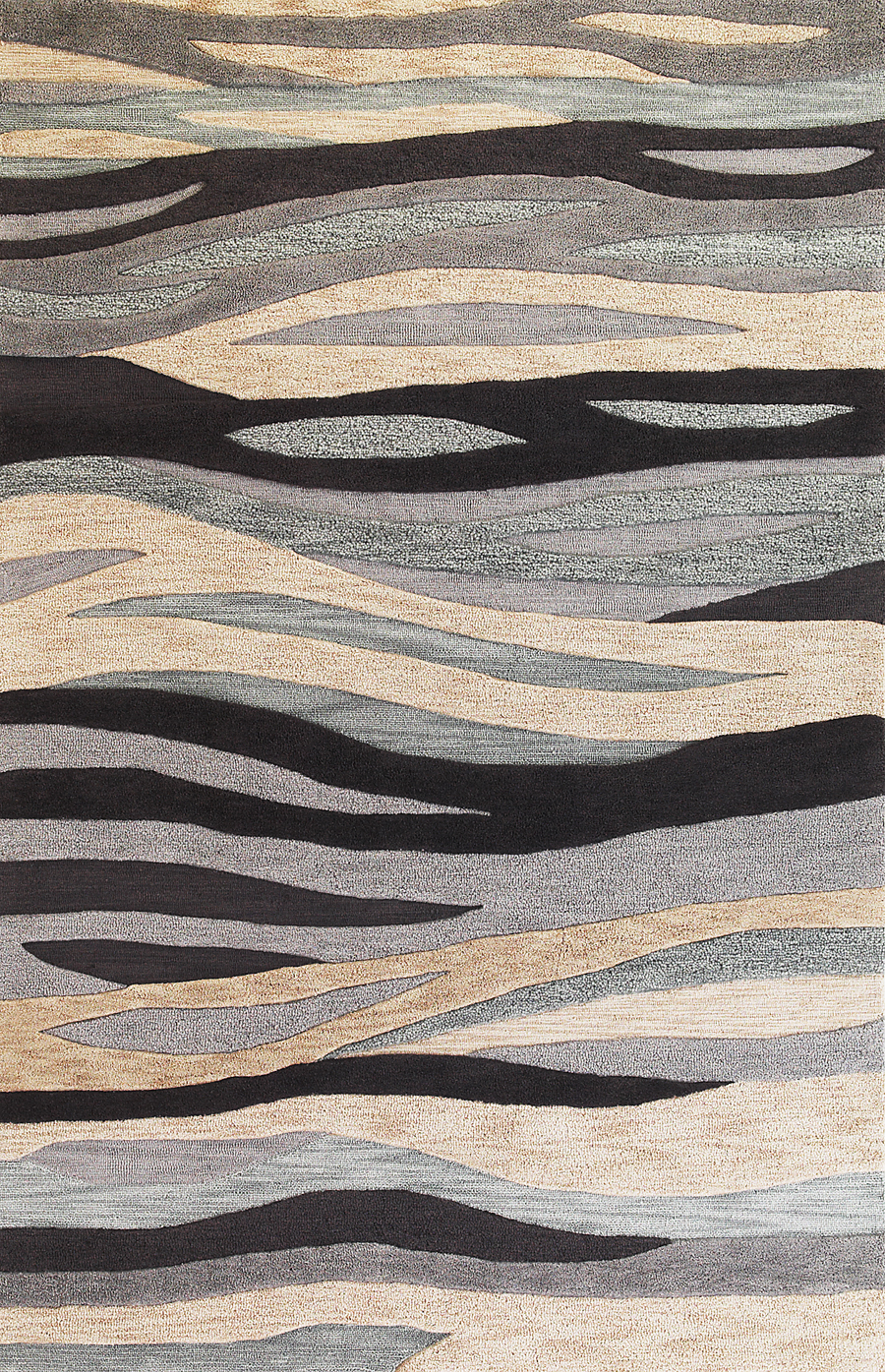 Milan 2106 Grey Breeze Rug by Kas