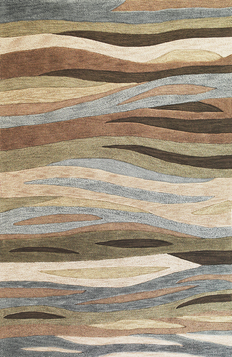 Milan 2108 Green Breeze Rug by Kas