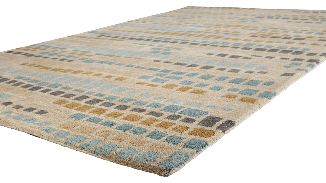 Jaipur National Geographic Home Tufted NGT14 Jalal Ombre Blue Rug