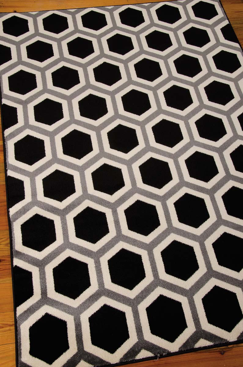 Nourison Nova NO105 Black/White Rug