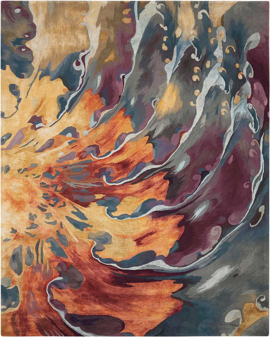 Nourison Prismatic Prs08 Multicolor Rug