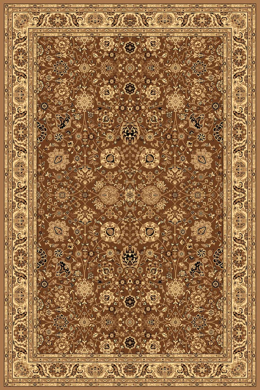 Rugs America New Vision 1332-BRN Tabriz Brown Rug