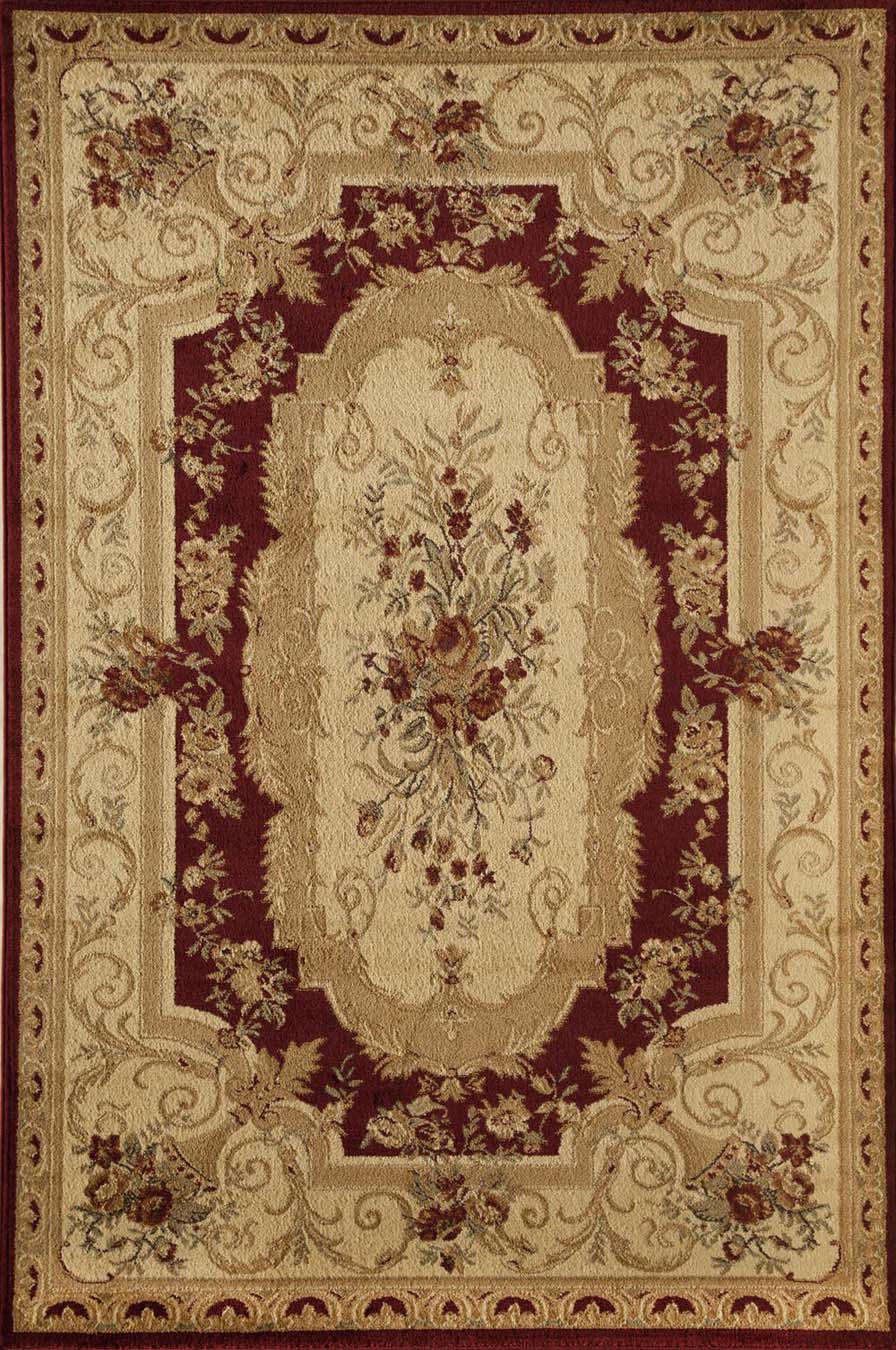 Rugs America Sorrento 2513-RED Aubusson Red Rug