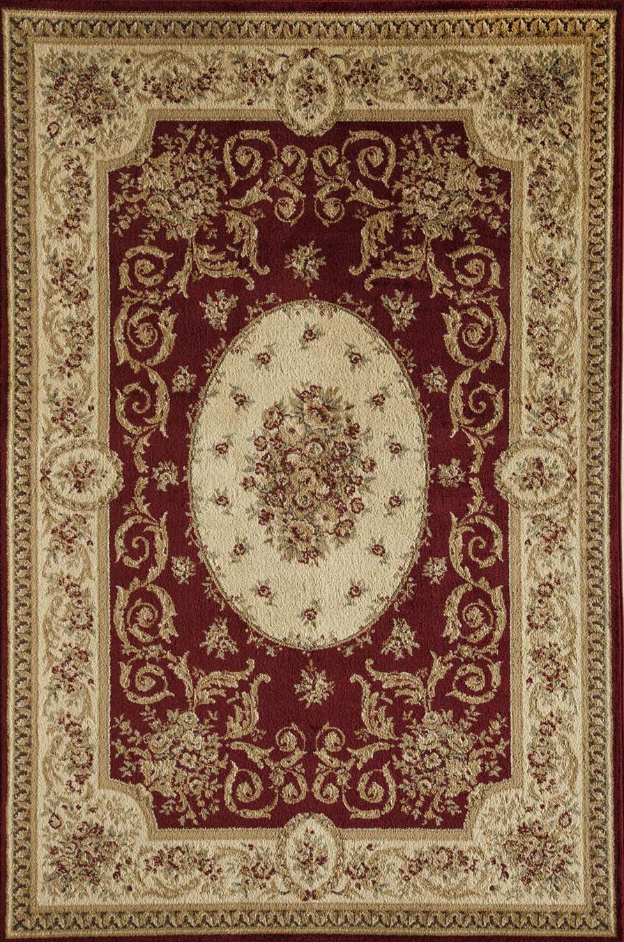 Rugs America Sorrento 4277-RED Medallion Red Rug