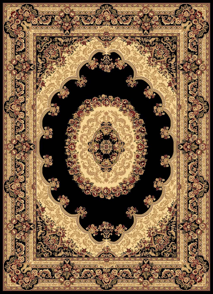 Rugs America New Vision 807-BLK Kerman Black Rug