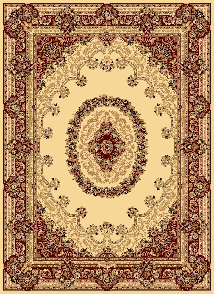 Rugs America New Vision 807-CRM Kerman Cream Rug