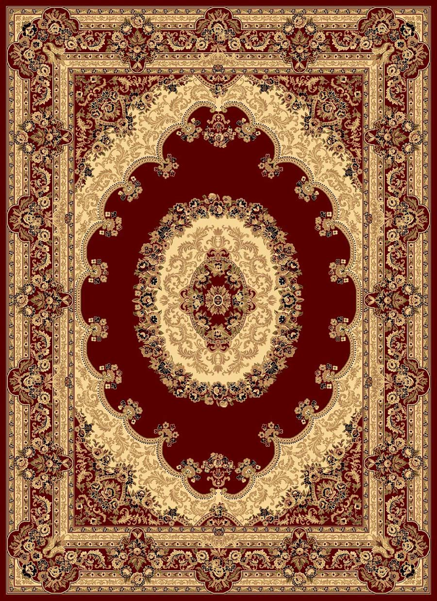 Rugs America New Vision 807-RED Kerman Red Rug