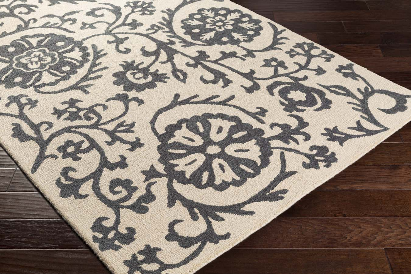 Artistic Weavers RHODES RDS-2312 Maggie Charcoal Grey/Off-White Rug