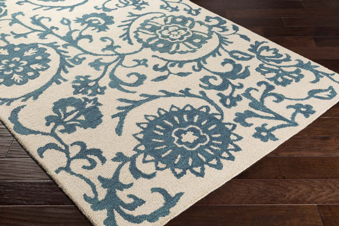 Artistic Weavers RHODES RDS-2315 Maggie Teal Blue/Off-White Rug