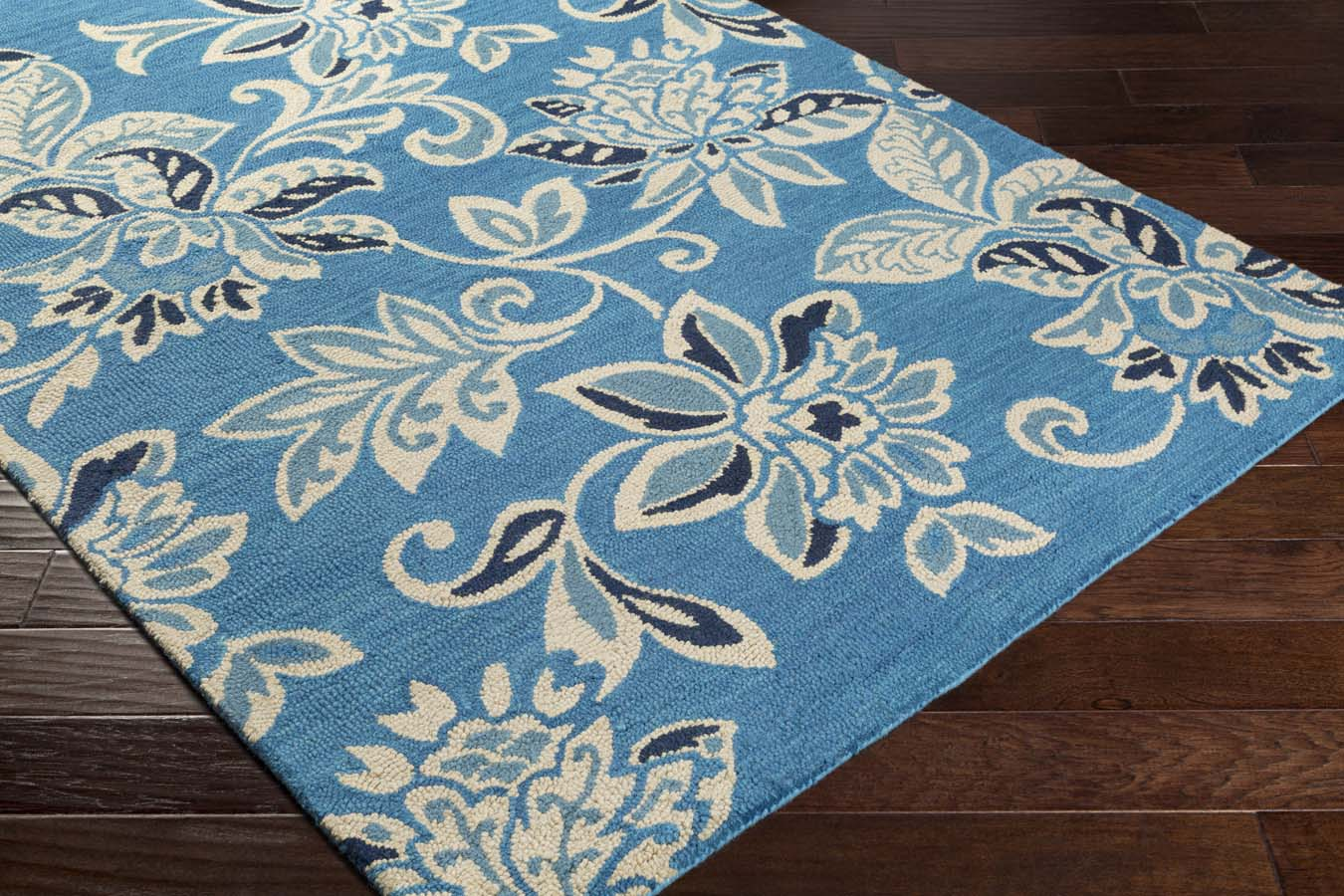 Artistic Weavers RHODES RDS-2318 Elsie Teal Blue/Off-White Rug