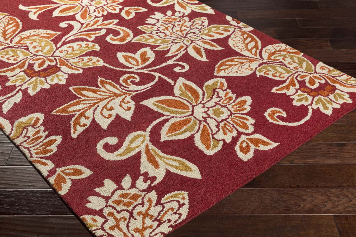 Artistic Weavers RHODES RDS-2319 Elsie Red/Off-White Rug