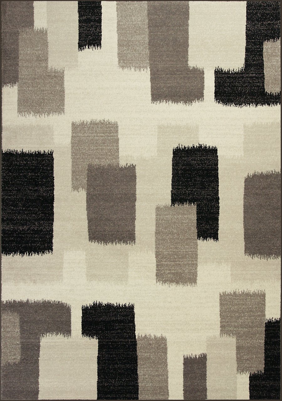 Kas Reflections 7413 Black and White Palette Rug