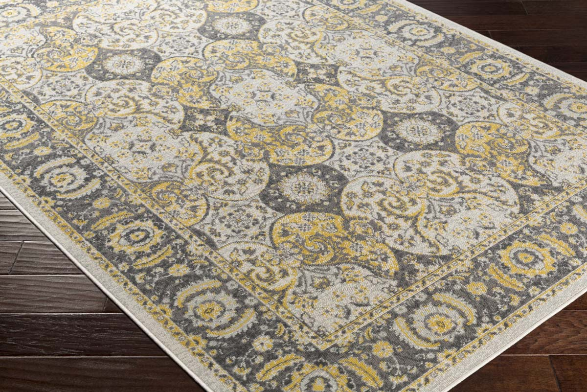 Artistic Weavers Roosevelt ROO-6218 Alto Light Yellow Charcoal Rug