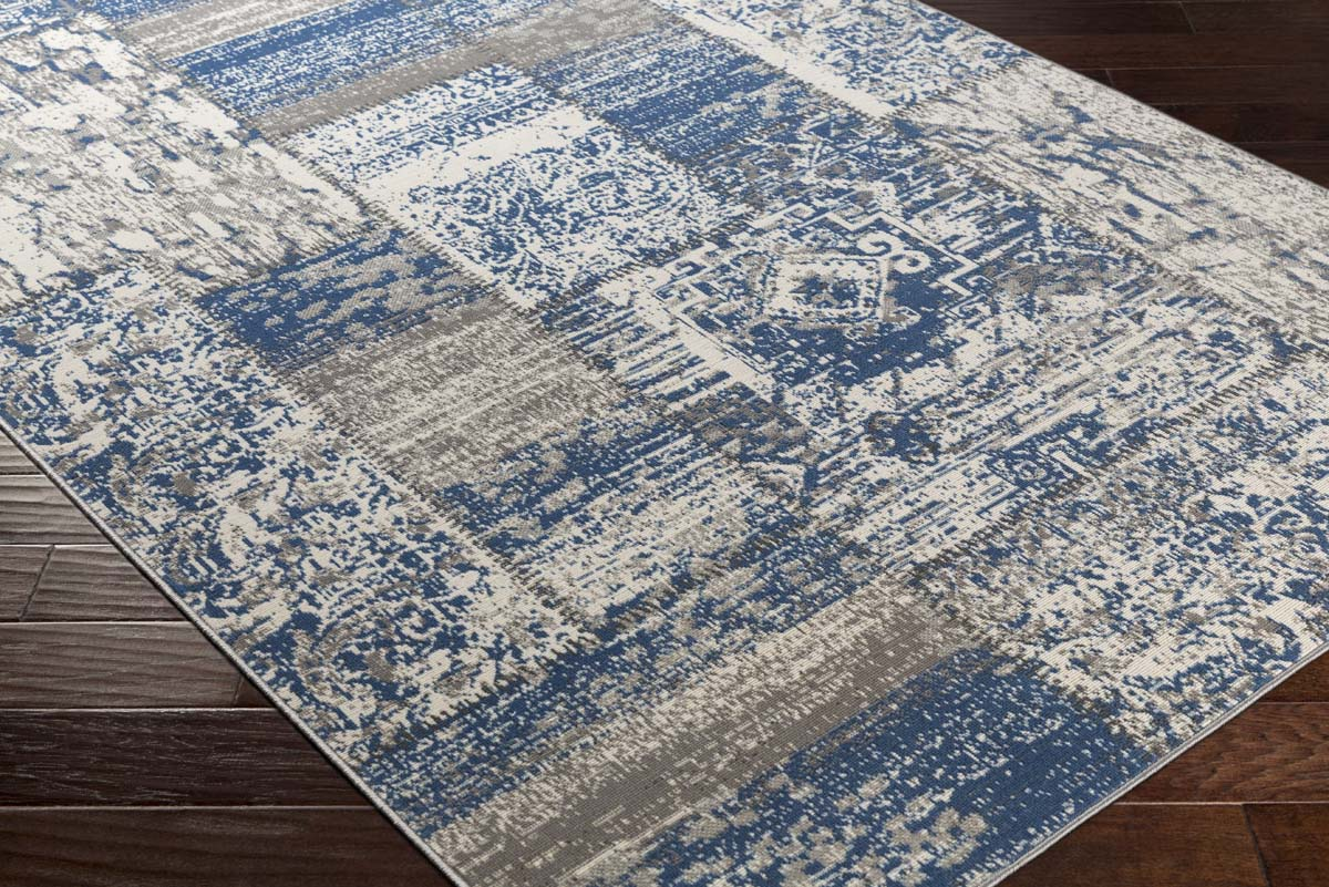 Artistic Weavers Roosevelt ROO-6219 Brooks Denim Blue Ivory Rug