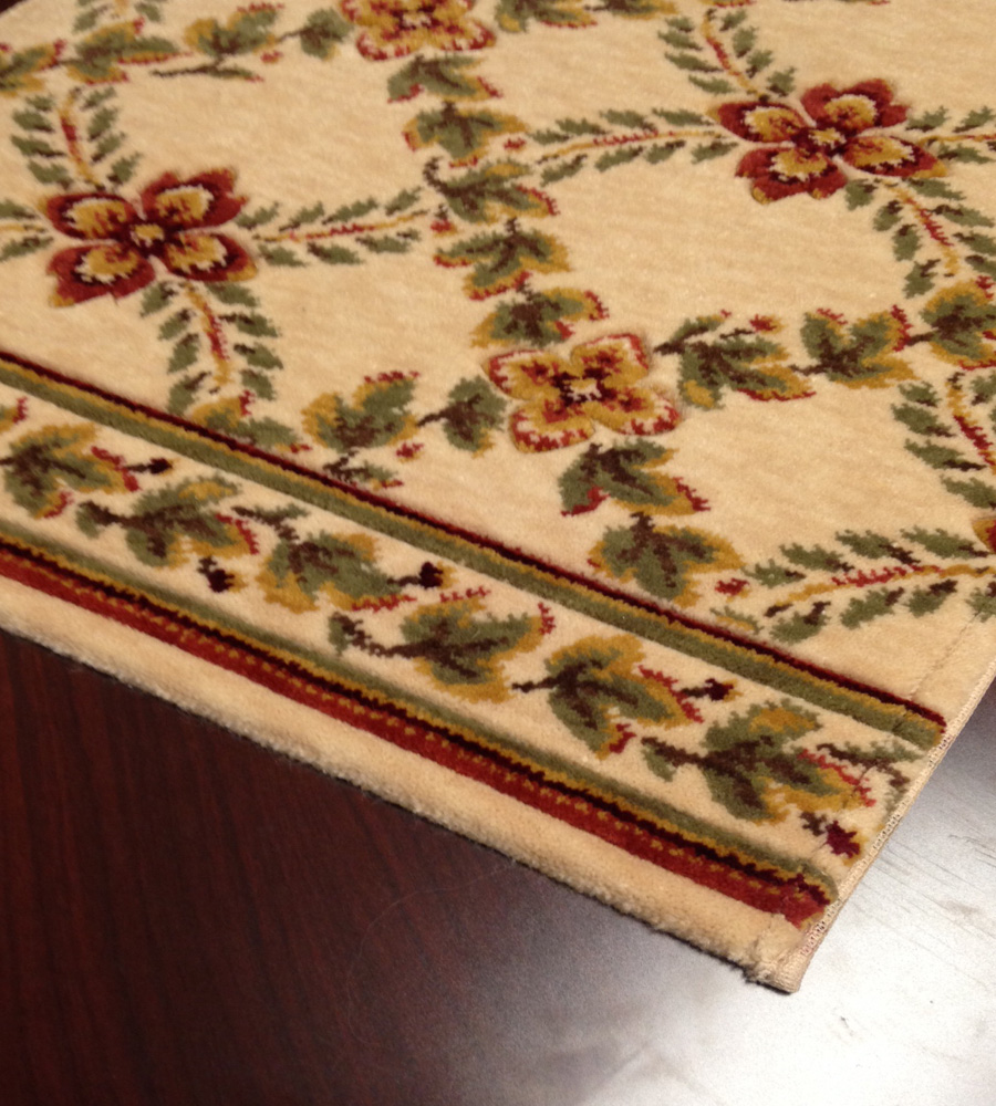 Royal Luxury Woodland Trellis 1325/0001a Linen Beige Carpet Stair Runner