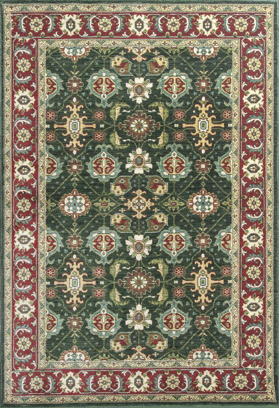 Kas Shiraz 5005 Emerald Red Mahal Rug
