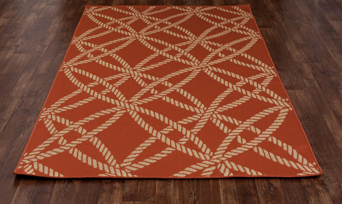 All Seasons Roped Red Rug