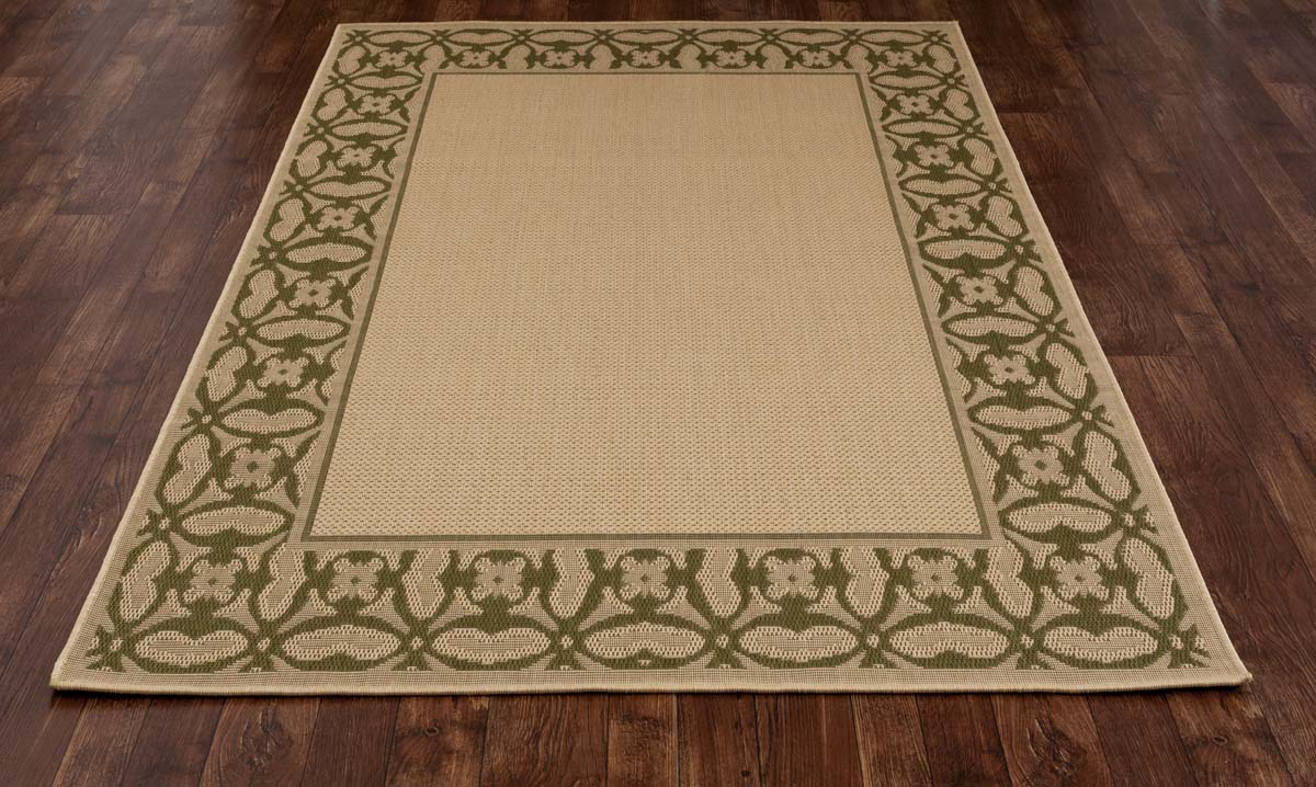 All Seasons Conversing Green Rug